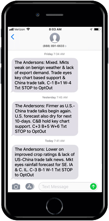 The Andersons Morning Market Texts