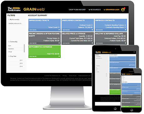 The Andersons GRAINweb online portal