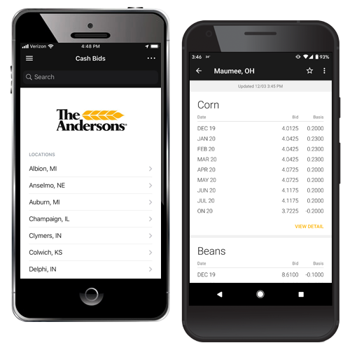 The Andersons Mobile App Bids